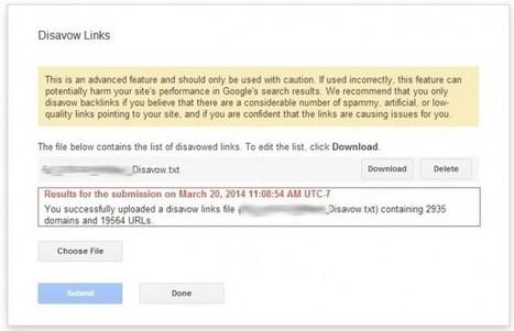 How To Disavow Links On Google And Resubmit Updates | WebsiteSpot | Publication de contenu | Scoop.it