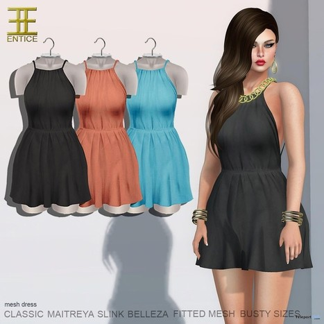 My Girl Dress Solid Group Gift by ENTICE | Teleport Hub - Second Life Freebies | Second Life Freebies | Scoop.it