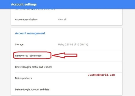 Delete Youtube Account | How to Delete Your Youtube Account | Just Web World | Scoop.it