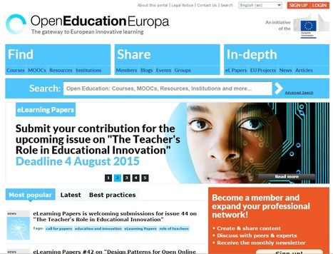 Opening up education through innovation | Open Education Europa | eLEADERship | eSkills | Wiki_Universe | Scoop.it