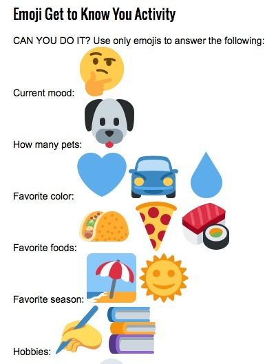Emoji Get to Know You Activity | Tech Learning | Social Media: Don't Hate the Hashtag | Scoop.it