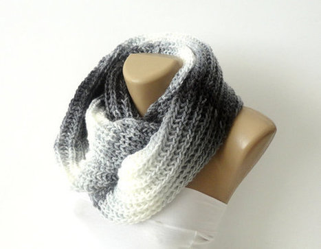 infinity knitted women scarf - loop scarf - scarves - Knitting circle soft scarf  Women's fashion accessory , seno | Knit Ruffled Scarf,multicolor scarf,2013 NEW TREND SCARF,accessories,gifts for her,fashion,long scarf | Scoop.it