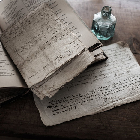 """""""Two very old documents 1742, 1768"""" -- close up photography with the Fuji X100T 