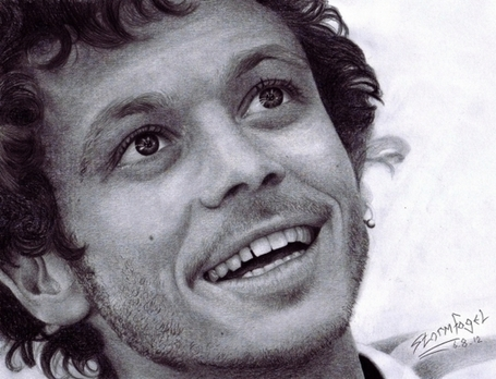 Pencil Portrait of Valentino Rossi by Stormfogel | Desmopro News | Scoop.it