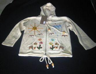 Weisse Kinder Kapuzen Jacke, ökologischer Pima Cotton | Produkte aus Peru | Scoop.it