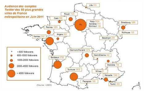 Twitter : 16 des 50 plus grandes villes de France ont un compte, selon une étude - Lagazette.fr | Web 2.0 et société | Scoop.it