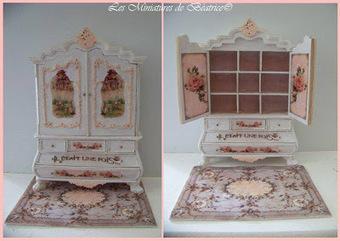 Les Miniatures de Béatrice: Maison de poupées pour maison de ... | Mobilier miniature | Scoop.it