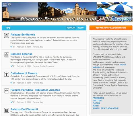 Ferrara, la prima provincia italiana con una Brand Page su Foursquare | Geolocalizzazione | Scoop.it