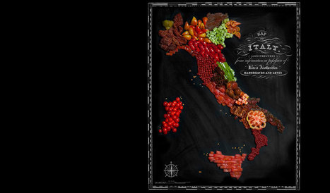 Delicious maps made out of food | Turismo e territorio | Scoop.it
