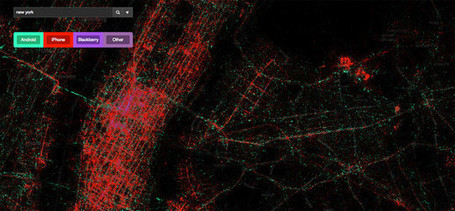 These Amazing Twitter Metadata Visualizations Will Blow Your Mind | #dataviz #bigdata #visualization | Knowmads, Infocology of the future | Scoop.it