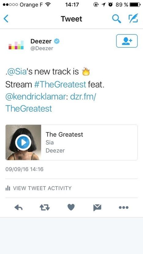 Découvrez de nouvelles chansons grâce à Deezer et Twitter | Twitter Blogs | A Kind Of Music Story | Scoop.it