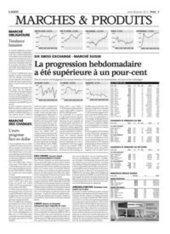 La progression hebdomadaire a été supérieure à un pour-cent - L'AGEFI (Abonnement) | PRECIOUS WOOD | Scoop.it