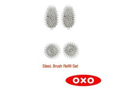 OXO® SteeL™ Soap & Scrub Refill Brush Set | Cook Tools | Scoop.it