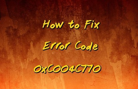 How to Fix Error Code 0xC004C770 | Windows Errors & Fixes | Scoop.it