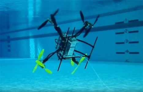 Amphibious Drone Flies Through the Air, Dives Underwater, And Soars Again | ScubaObsessed | Scoop.it