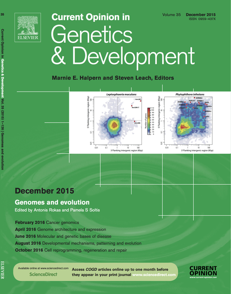 Cover: Current Opinion in Genetics & Development: Genomes and evolution (2015) | Publications | Scoop.it
