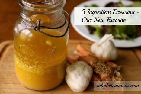 This 5 Ingredient Salad Dressing is soooo easy to make and is our new favorite....   Vegetarian and Vegan   Scoop.it