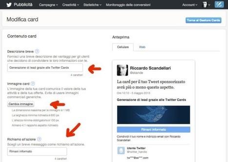 Twitter Cards per la generazione di lead | Stefano Fantinelli | Scoop.it