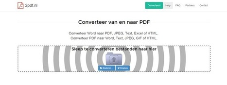 Edu-Curator: 2pdf.nl converteert Word-bestanden naar PDF, JPEG, Text, Excel of HTML of PDF-bestanden naar Word, Text, JPEG, GIF of HTML | DIGITAL EDUCATION | Scoop.it