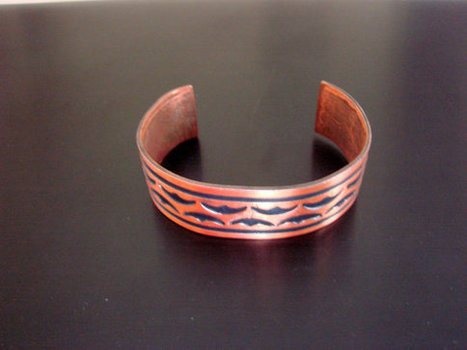 Niello Wide Solid Copper Bracelet / Tribal Motifs / Artisan / Vintage Jewelry / Jewellery / CIJ Sale 20% Off Coupon Code (CIJSALE1) | Vintage and Antique Jewelry & Fashion | Scoop.it