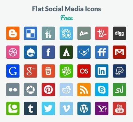 20 Beautiful Free Flat Icon Sets For Web Designers » W3 Experts | wordpress | Scoop.it