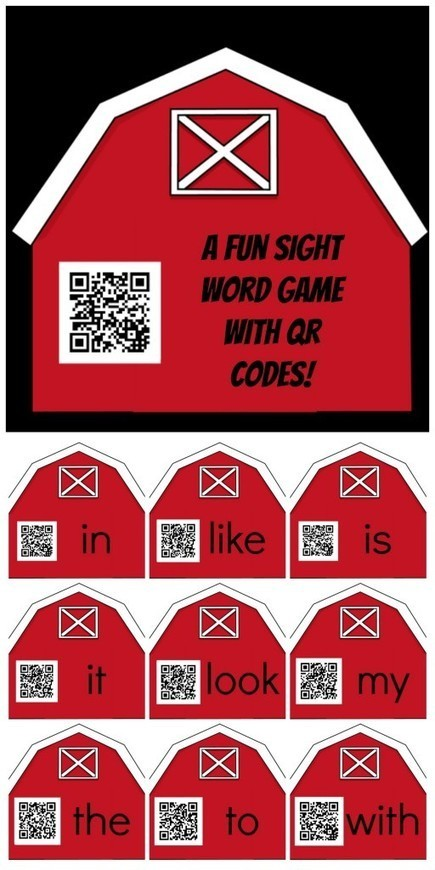 QR Codes for Sight Words: Attaching audio files - Technology In Early Childhood | Teaching Ideas | Scoop.it