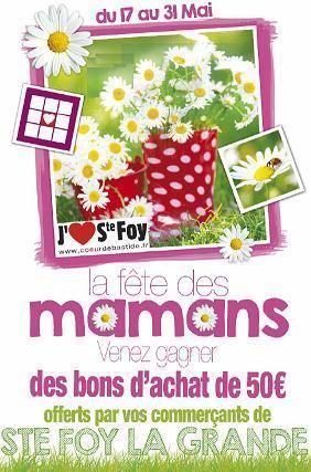 Bonne fête à toutes les mamans | Coeur de Bastide de Ste Foy la Grande | Scoop.it