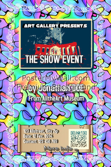 Event poster with a QR that links to Instagram - Vintage art on PosterMyWall | QR CODE TEMPLATES | Scoop.it