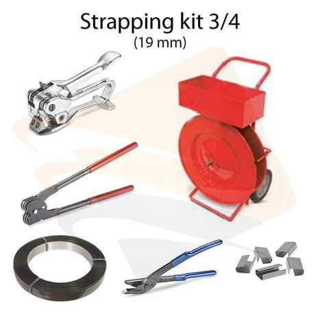 Strapping acie  Strapping kit acier 3/4"
