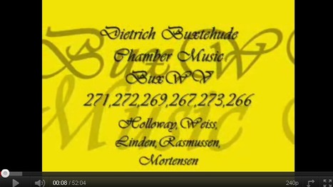 Dietrich Buxtehude - Chamber Music (~52 min) | offene Ablage: nothing to hide | oAnth-miscellaneous | Scoop.it