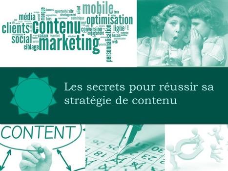 Les secrets pour réussir sa stratégie de contenu - Propulzr | e-REPUTATION par Linexio | Scoop.it