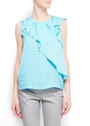 Mango Women's Decorative Ruffles Blouson, 8, Turquoise | Online Fashion | Scoop.it
