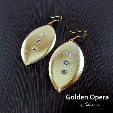 Golden Opera Earrings - Craftsia - Indian Handmade Products & Gifts | Indian Handmade Jewelry | Scoop.it
