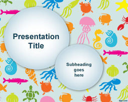 Colorful Sea Species PowerPoint Template | Ambition | Scoop.it