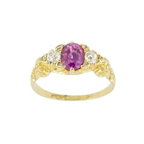 A Victorian pink sapphire and diamond three stone ring - Bentley & Skinner | Bentley And Skinner | Scoop.it