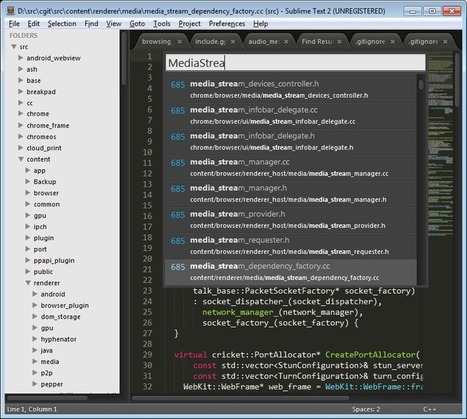 Using Sublime Text as your IDE - The Chromium Projects   A better work   Scoop.it