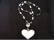 Natural Stone White Agate Heart Pendant Necklace | Draped in Stone Jewelry | Scoop.it