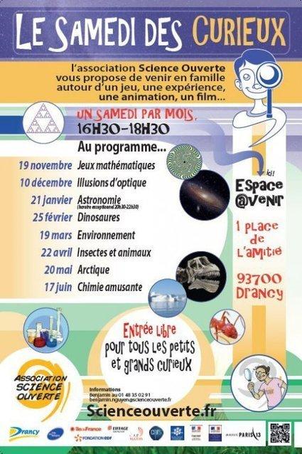 Programme du Samedi des curieux 2016-2017 - Association Science Ouverte | Action Sociale | Scoop.it