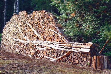 An artistic wood pile | Chronique d'un pays où il ne se passe rien... ou presque ! | Scoop.it
