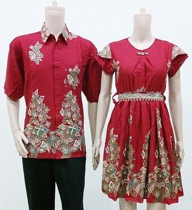 Batik Couple Modern Joana Kerang Merah SB714 | Toko Online Batik Ganitri | mischaYY | Scoop.it
