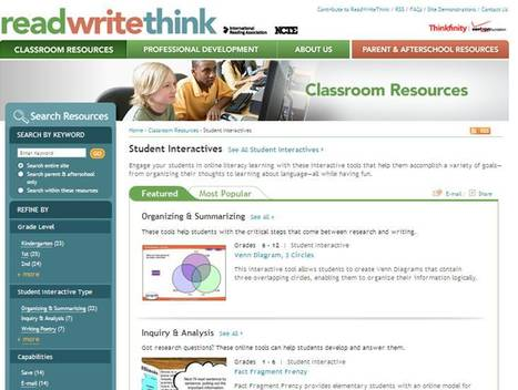 Student Interactives - ReadWriteThink | 30 Elementary Sites In 60 Minutes | Scoop.it