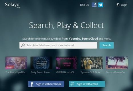 Solayo is a Beautiful Music Player for YouTube, SoundCloud & DailyMotion | Music | Scoop.it