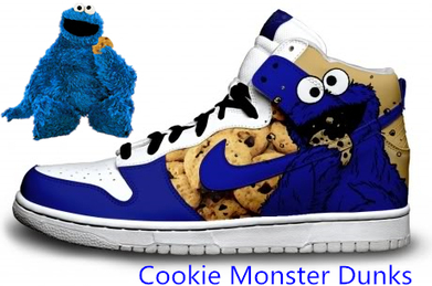 Blog - Cookie Monster Dunks Sesame Street High Tops Blue   Comic Nike Dunks   Scoop.it