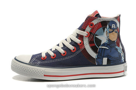 The Avengers Captain America converse shoes,Captain America converse Avengers shoes | Captain Ameica Nike Shoes | Scoop.it