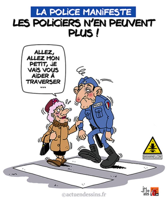 Manifestation de la police : les policiers sont à bout… | Baie d'humour | Scoop.it