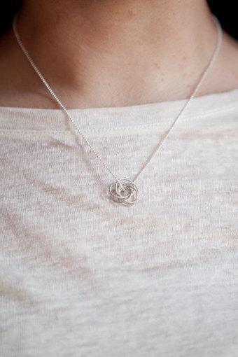Layered Necklace, Layering Necklace, Love Knot Necklace, Delicate Necklace, Gold Necklace | Layered Necklaces & Silver Bangle Bracelets | Scoop.it