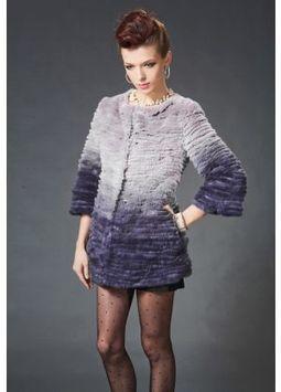 Women's Furs :: Fur Coats :: Rabbit :: Genuine Full Skin Layered Rex Rabbit Stroller Coat - | furs | Scoop.it