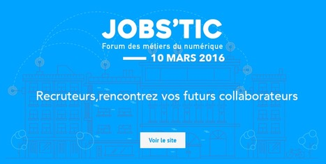 Jobs'TIC - 10 Mars - La Cantine Toulouse | Toulouse networks | Scoop.it