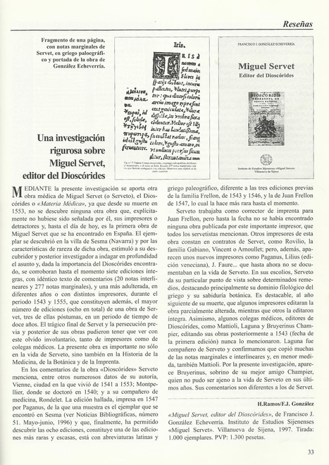 12-1997 Bibliographical News | Michael Servetus. Discovered  new works and true Identity. Proofs, lectures and International Congresses. | Scoop.it
