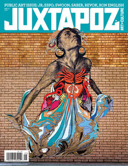 "Juxtapoz Magazine - Street Art | ""Life Without Art Is Stupid"" 